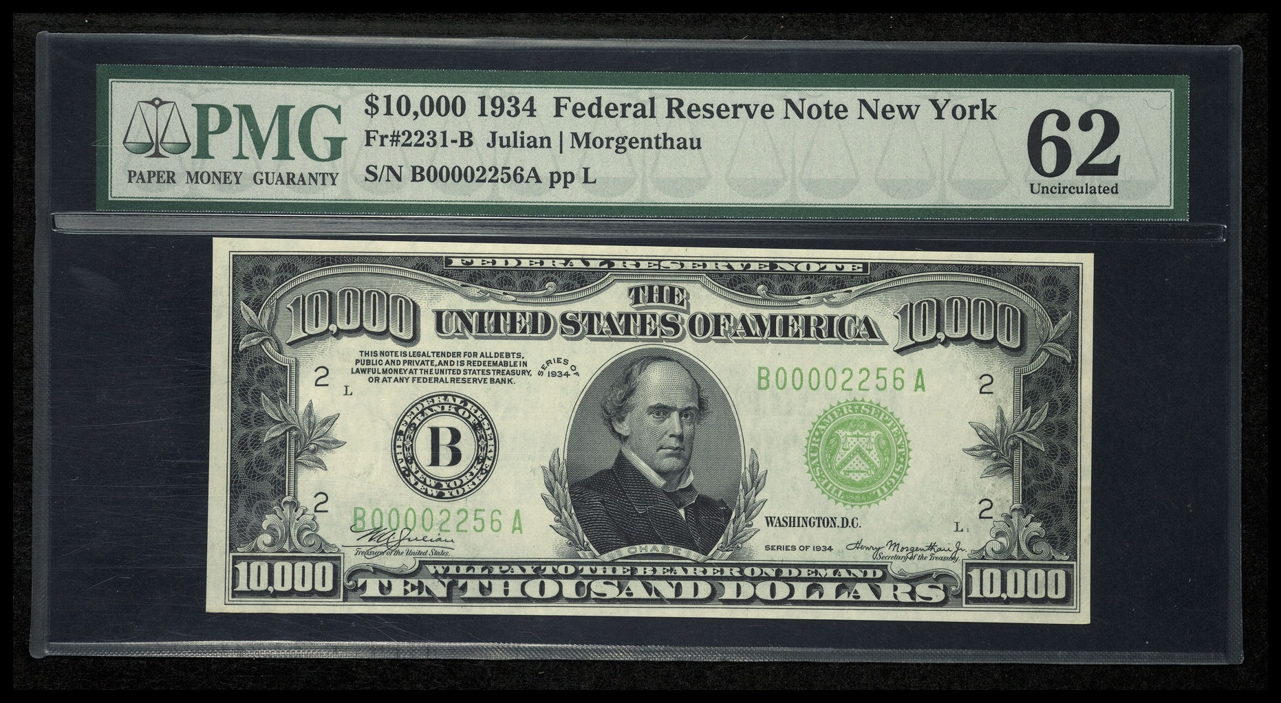 Binion's Horseshoe Casino - Fr. 2231-B 1934 $10,000 Federal Reserve Note