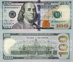 Series 2009 $100 Note Specimen