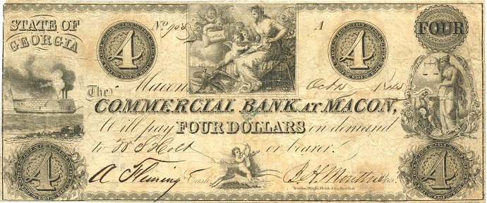 $4 Commercial Bank at Macon Georgia Ex. David Marsh