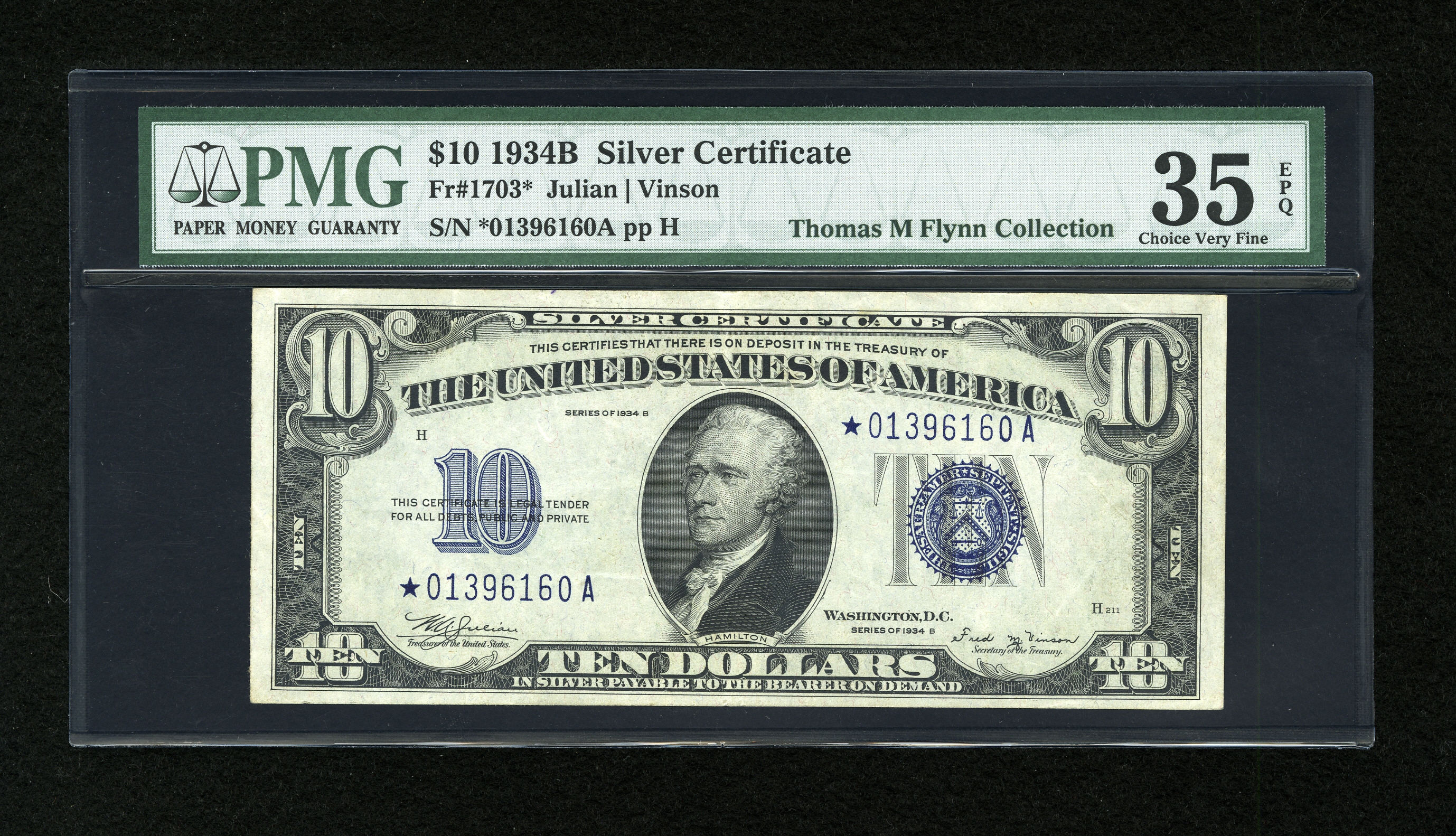 Fr. 1703* 1934B $10 Silver Certificate Star Note PMG Choice Very Fine 35 Heritage Auctions